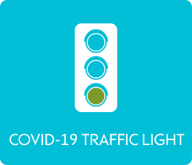 COVID-19 traffic light - green