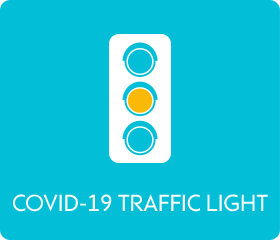 COVID-19 traffic light - yellow