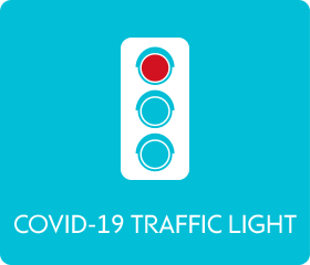 COVID-19 traffic light - red