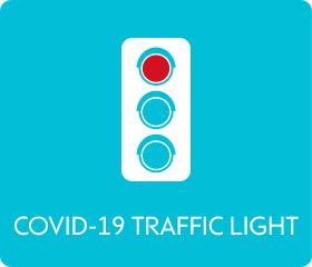 COVID-19 traffic light - red
