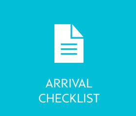 Arrival checklist