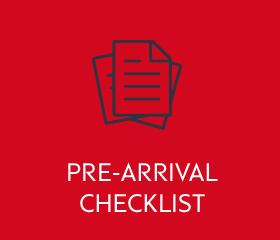Pre-arrival checklist