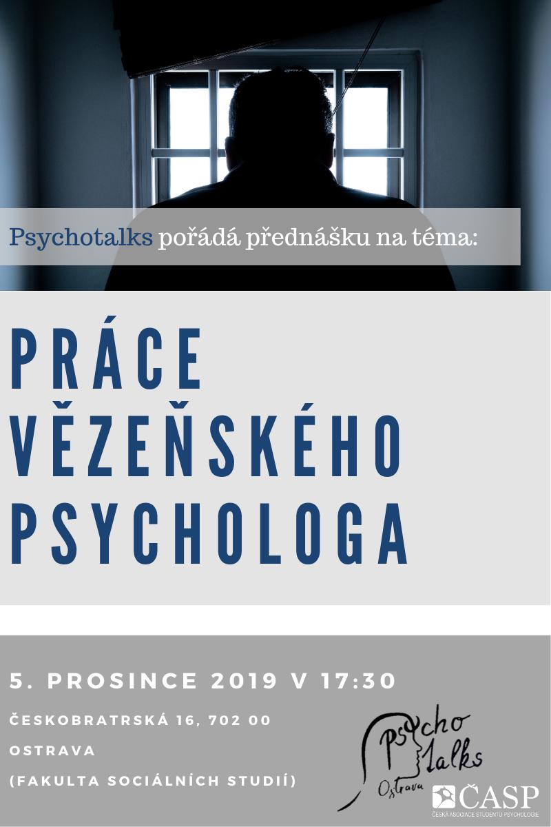 Pozvánka napřednášku Práce vězeňského psychologa