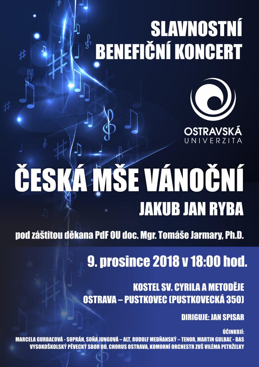 Pozvánka naslavnostní benefiční koncert
